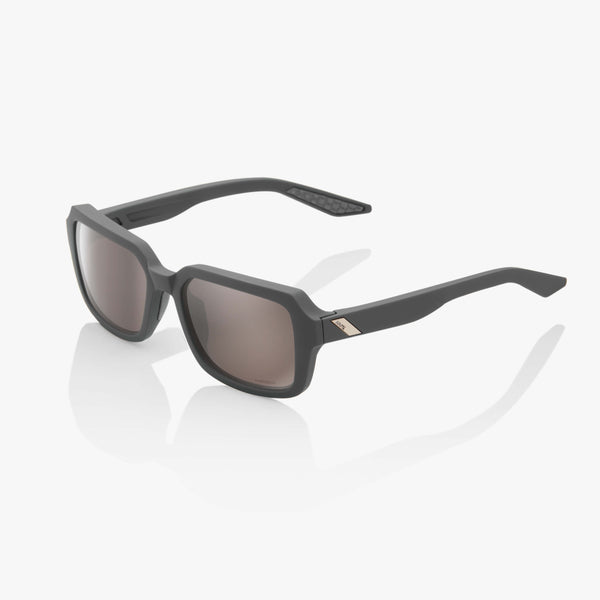 RIDELEY - Soft Tact Cool Grey - HiPER Silver Mirror Lens