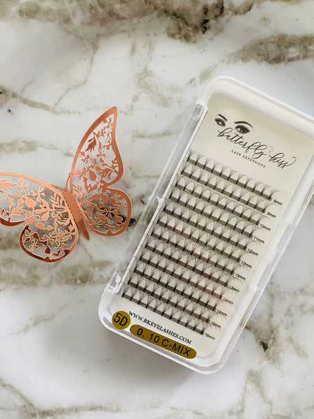 pre-made lash extension fans .10 C curl