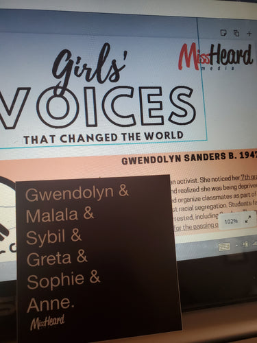 Girls' Voices Matter Sticker + DL