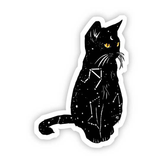 Black Cat, Starry Cat Sticker