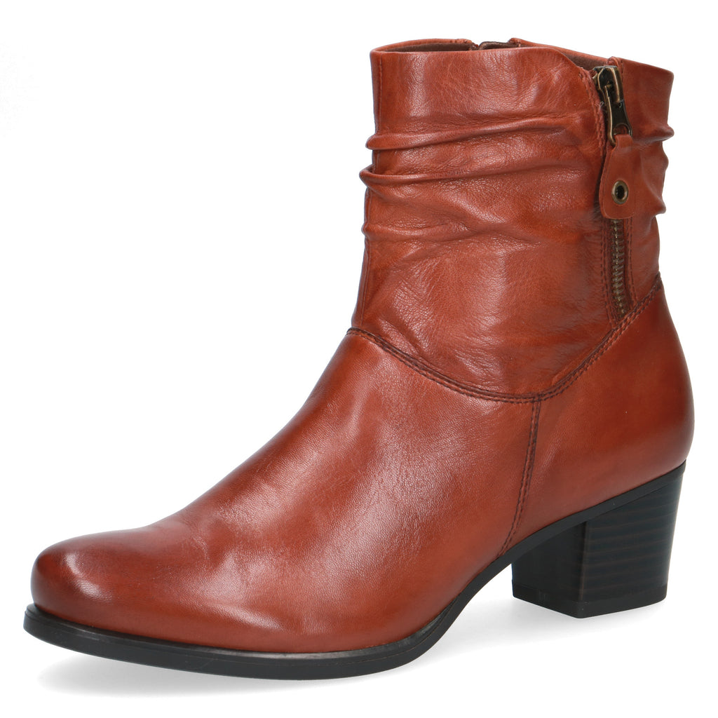 Women's Caprice Maisie Ankle Boot Tan Leather
