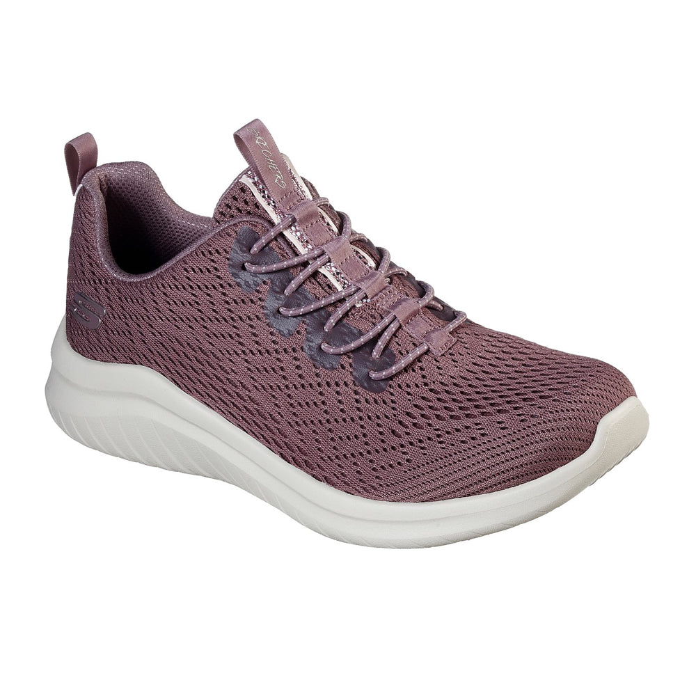 Women's Skechers Ultra Flex Groove Mauve Trainer