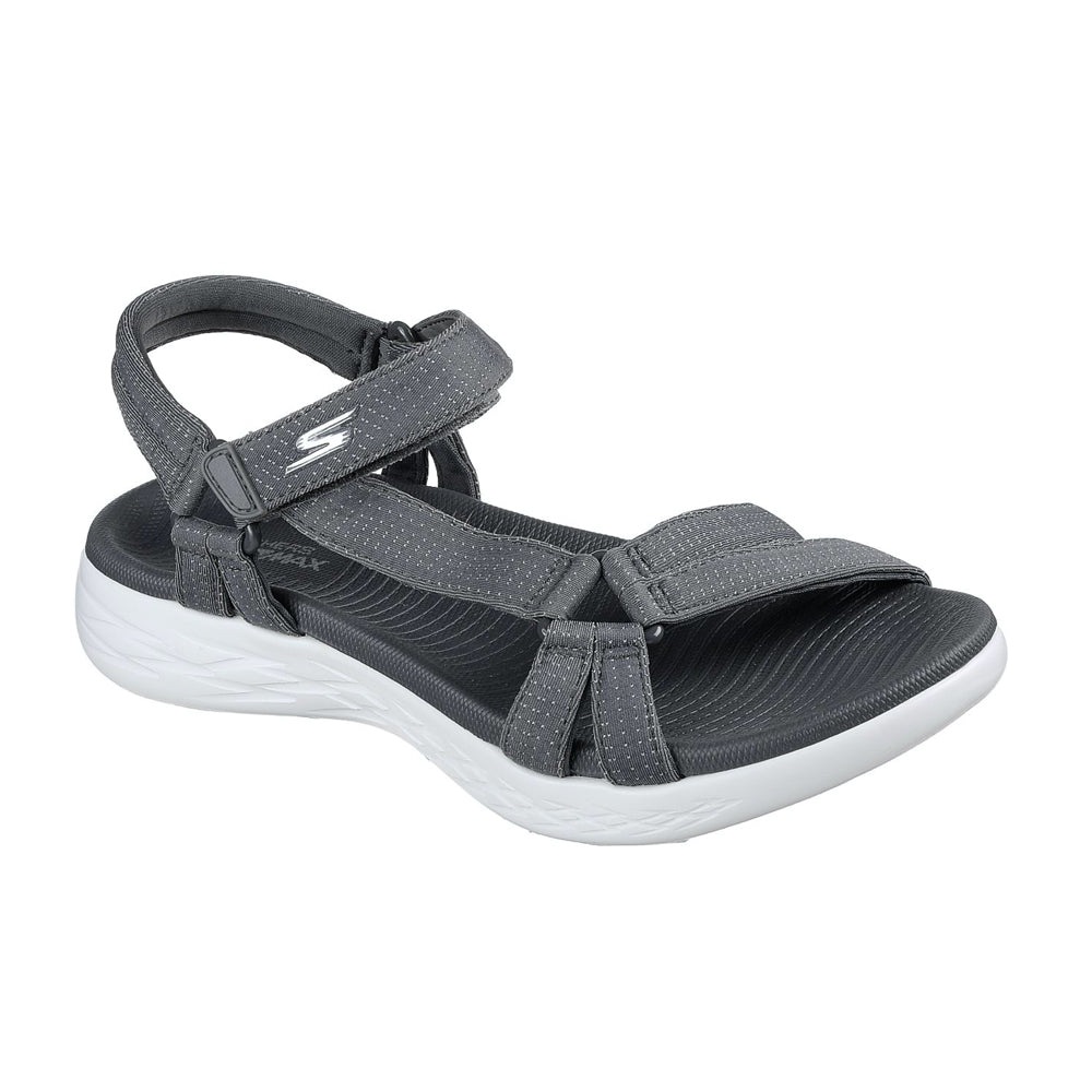 Women's Skechers On The Go 600 Brilliancy Sandal Charcoal Grey