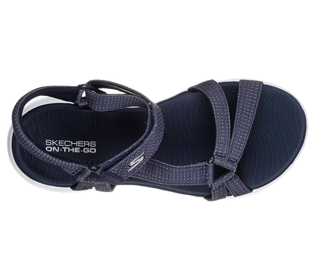 Womens Skechers On The Go 600 Brilliancy Sandal Navy