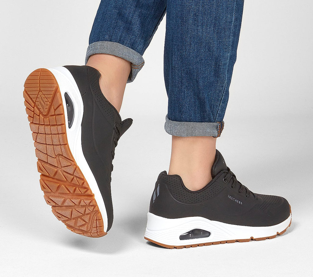 Women's Skechers UNO - STAND ON AIR Trainer Black