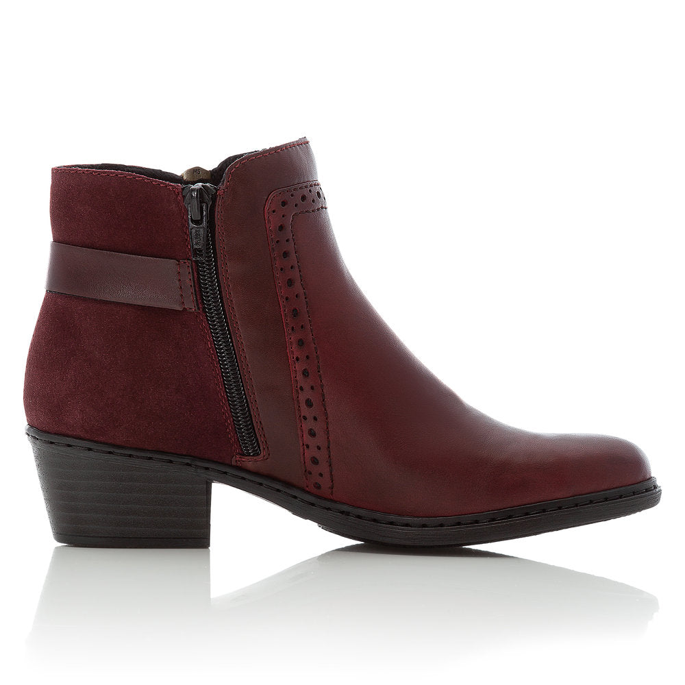 Women's Rieker Cristal Ankle Boot Red