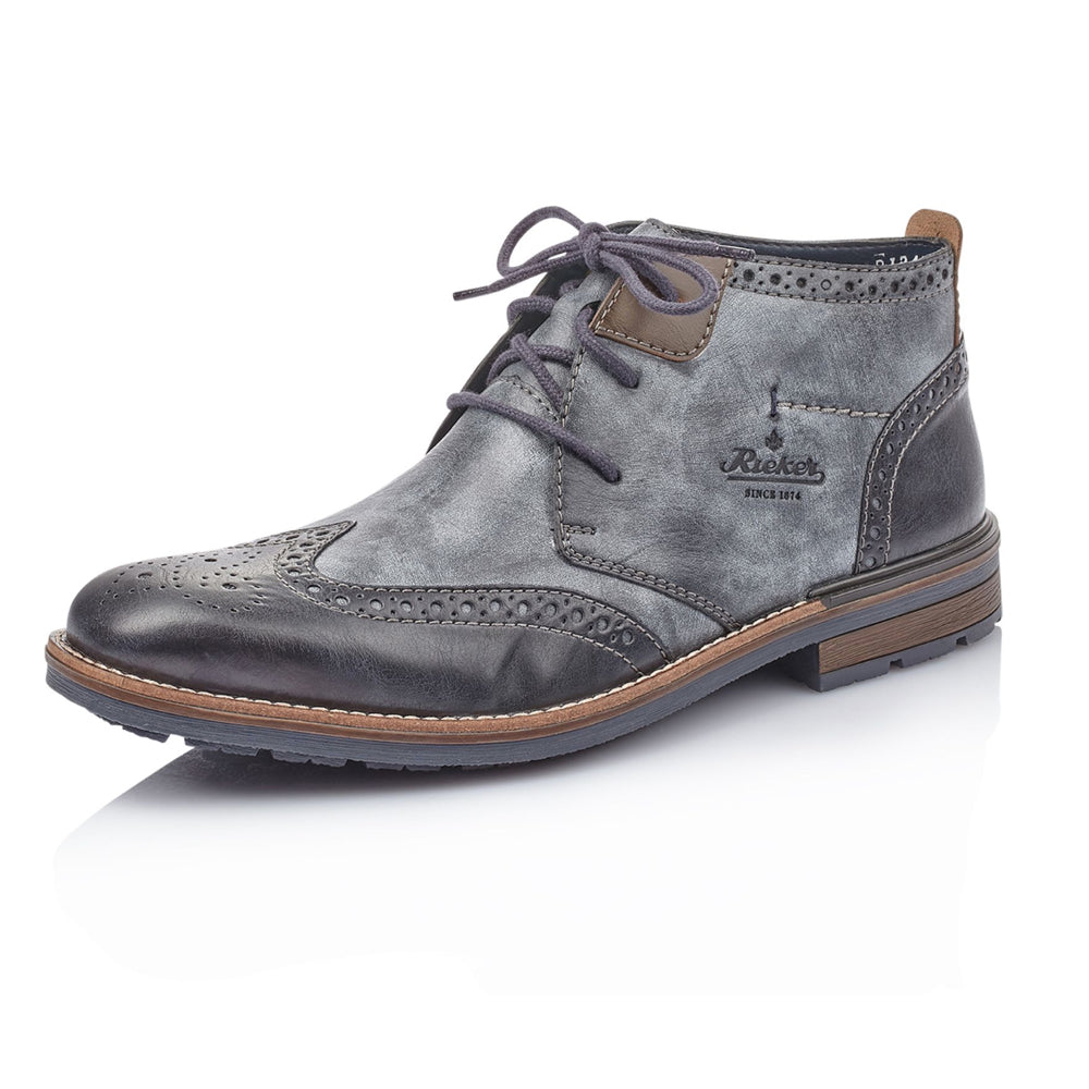 Men's Rieker Battleford Brogue Boot Blue Multi