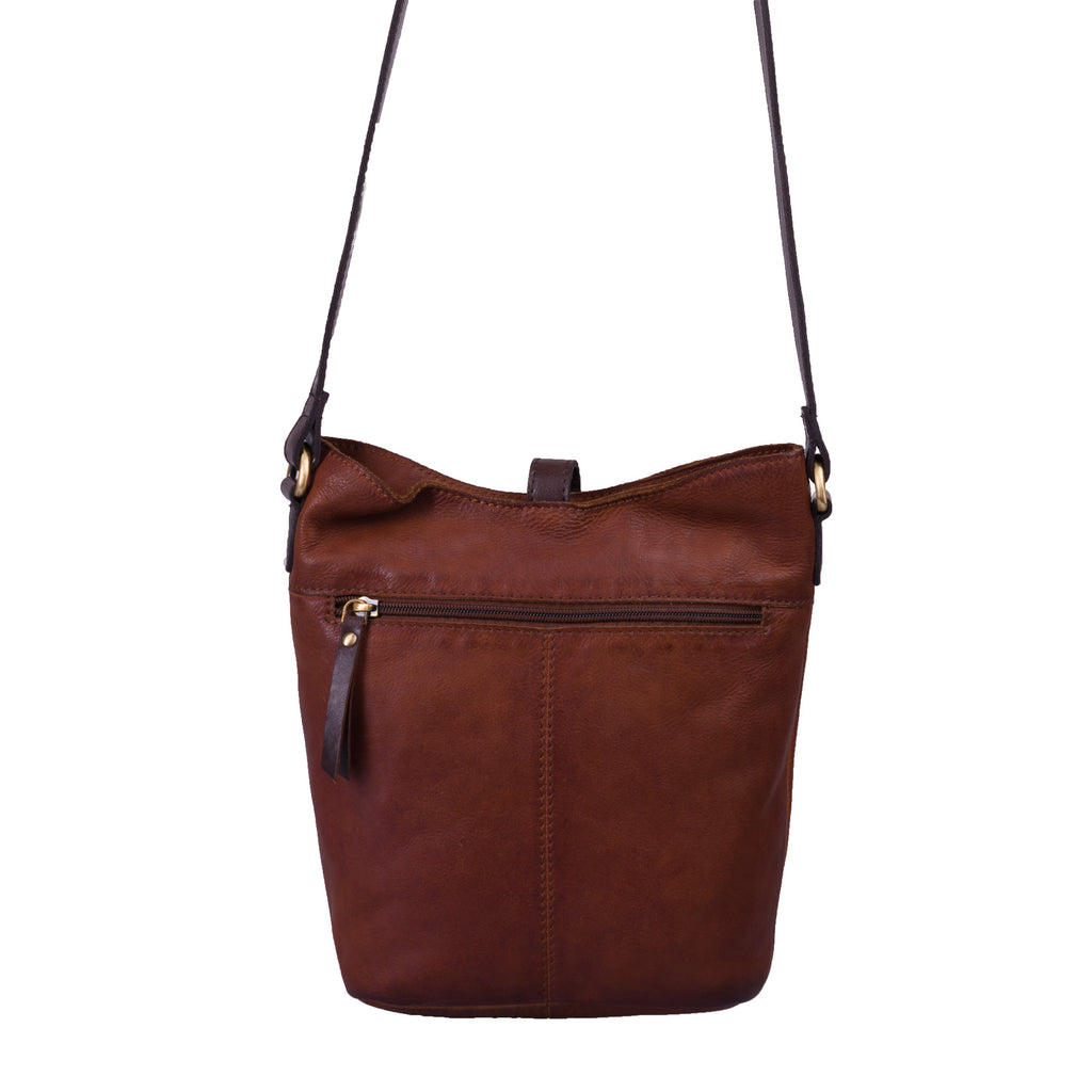 Bolla Bags Conifer Leather Crossbody Bag Brandy Brown