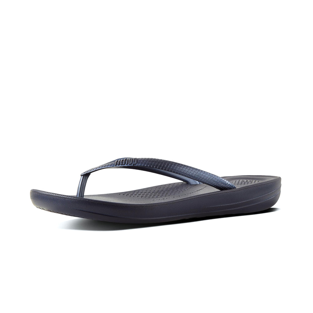 Women's FitFlop iQushion Ergonomic Flipflop Sandal Navy Blue