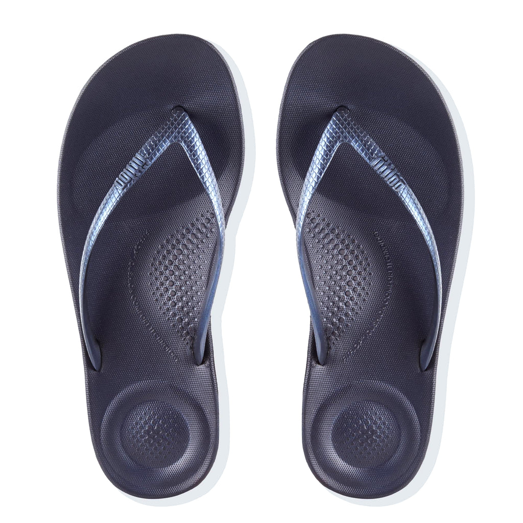 Women's FitFlop IQushion Flip Flop Sandals Midnight Navy