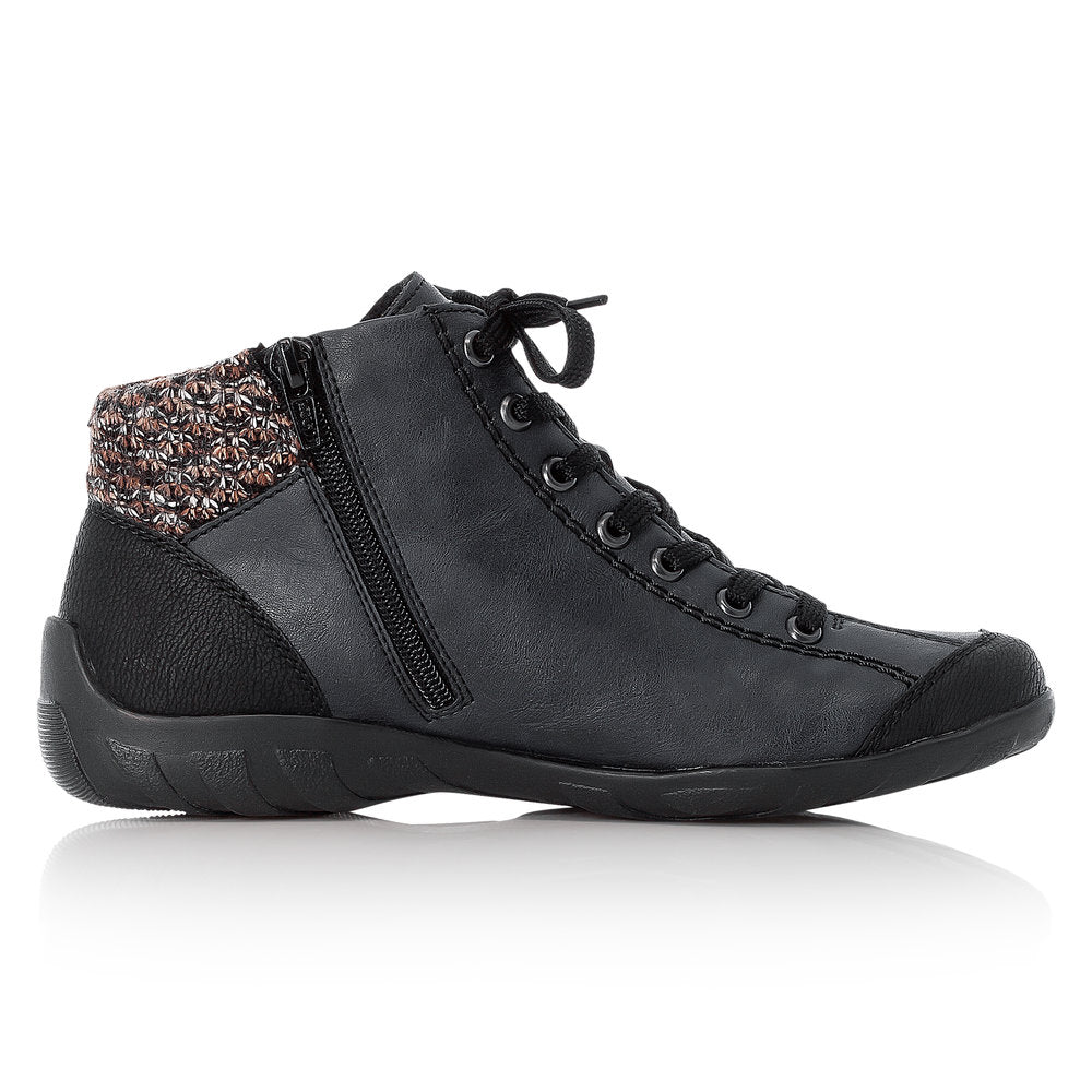 Women's Rieker Mombasa Lace Up Boot Black