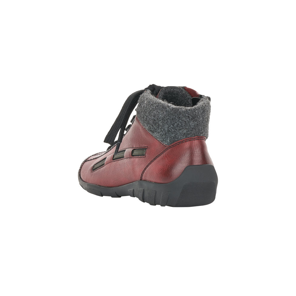 Women's Rieker Mombasa Lace Up Boot Red