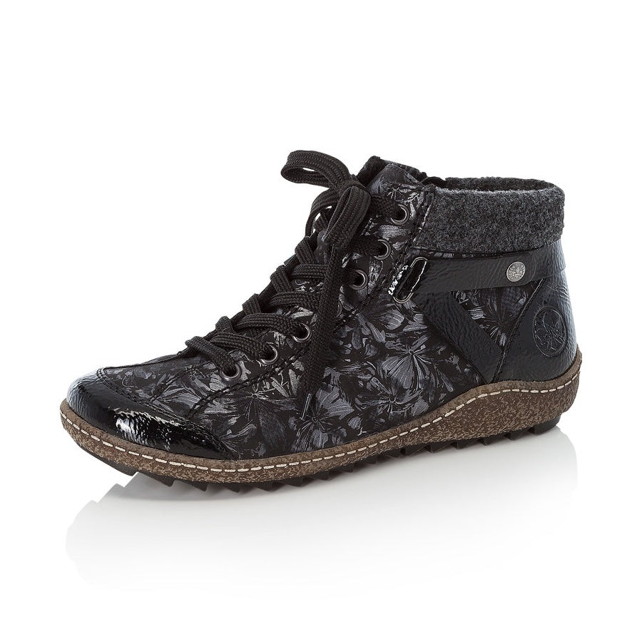 Women's Rieker Morelia Lace Up Boot Black Multi