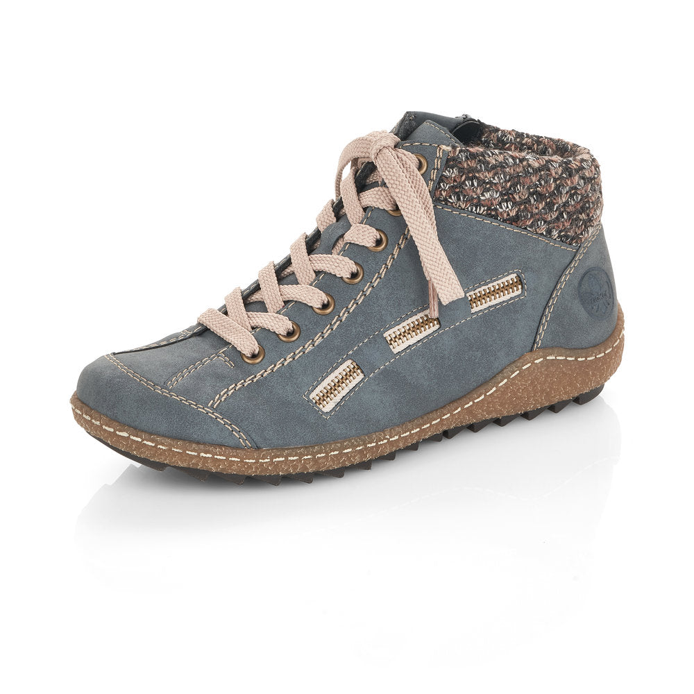Women's Rieker Morelia Lace Up Boot Blue