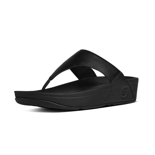 Women's FitFlop Lulu Leather Toepost Sandals Black