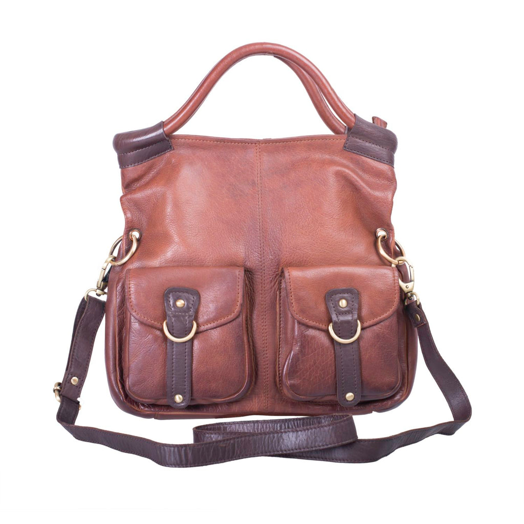 Bolla Bags Maple Leather Bag Brandy