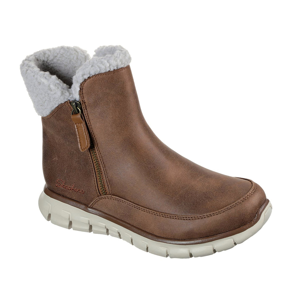 Women's Skechers SYNERGY - COLLAB Waterproof Boot Brown