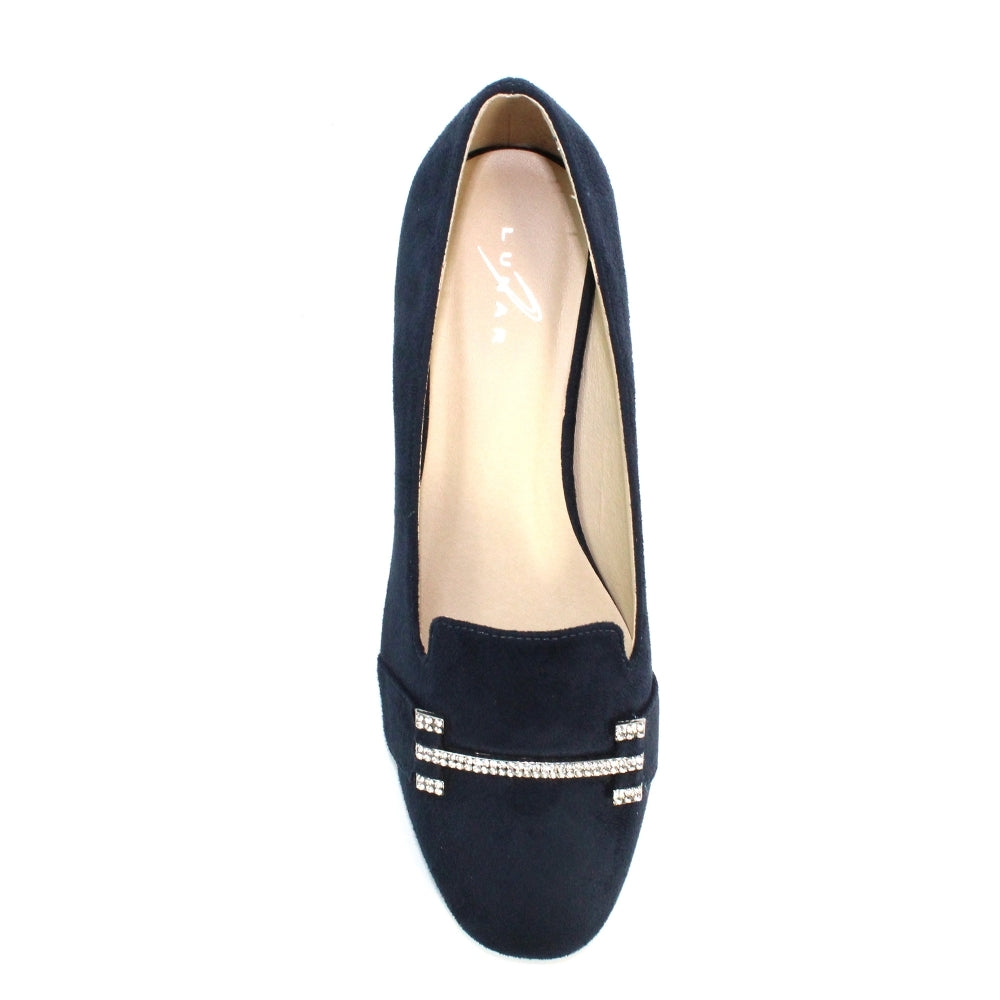 Women's Lunar Beattie Slip On Loafer Navy Blue