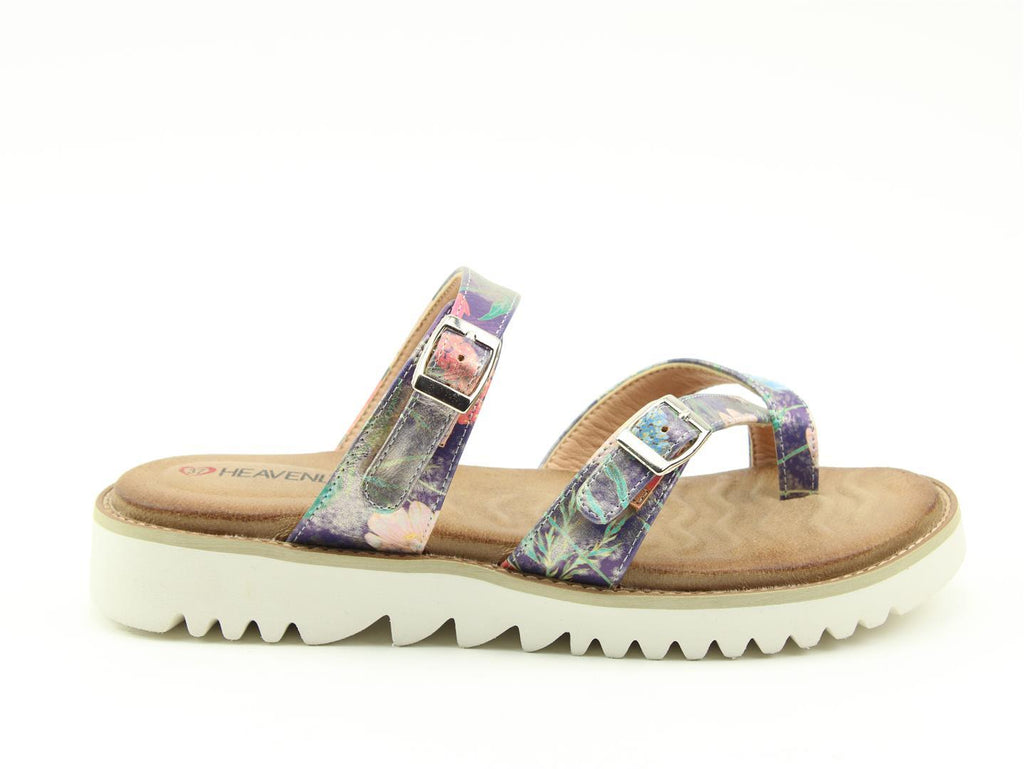 Women's Heavenly Feet Sunset Sandal Purple Multi