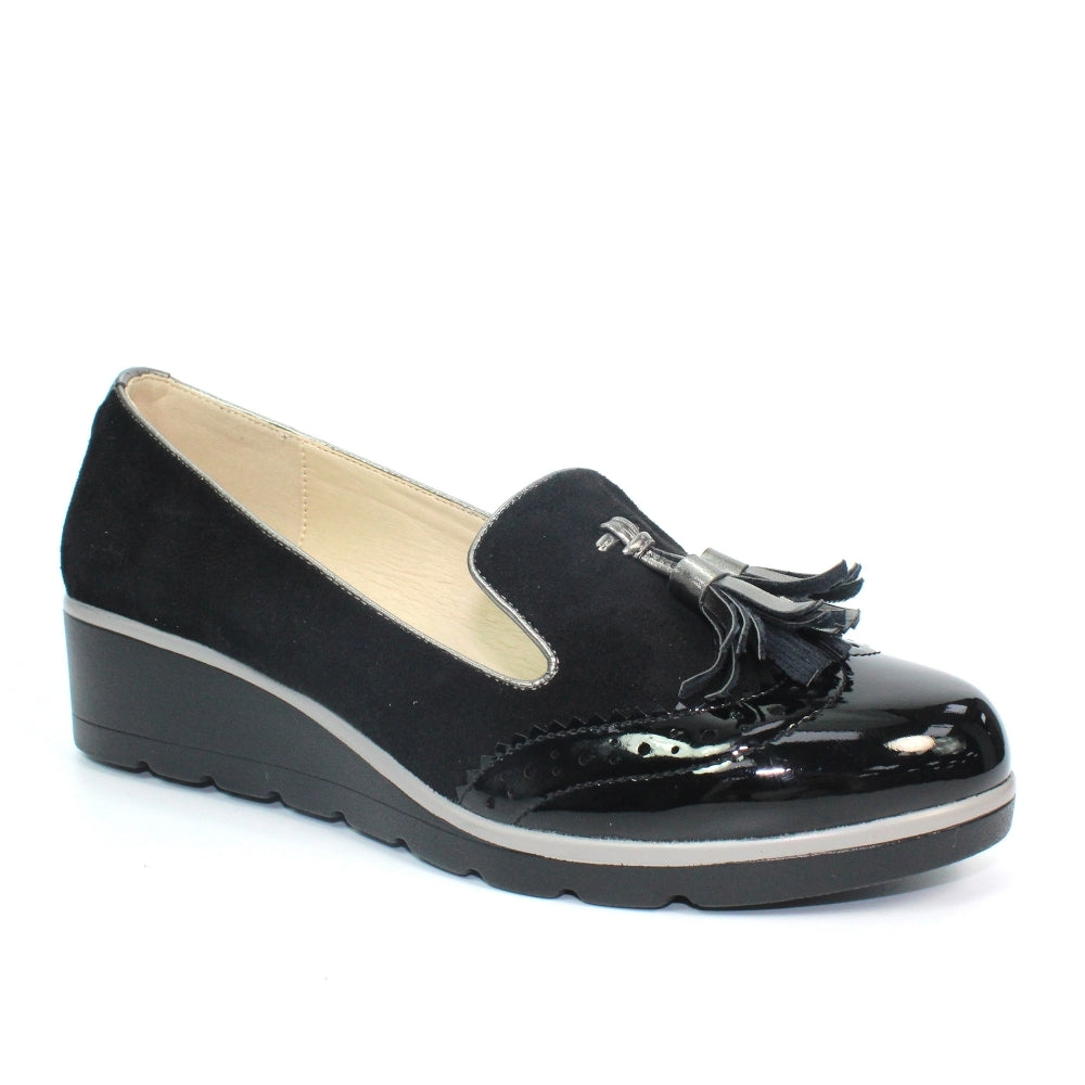 Women's Lunar Karina Slip On Tassel Loafer Black
