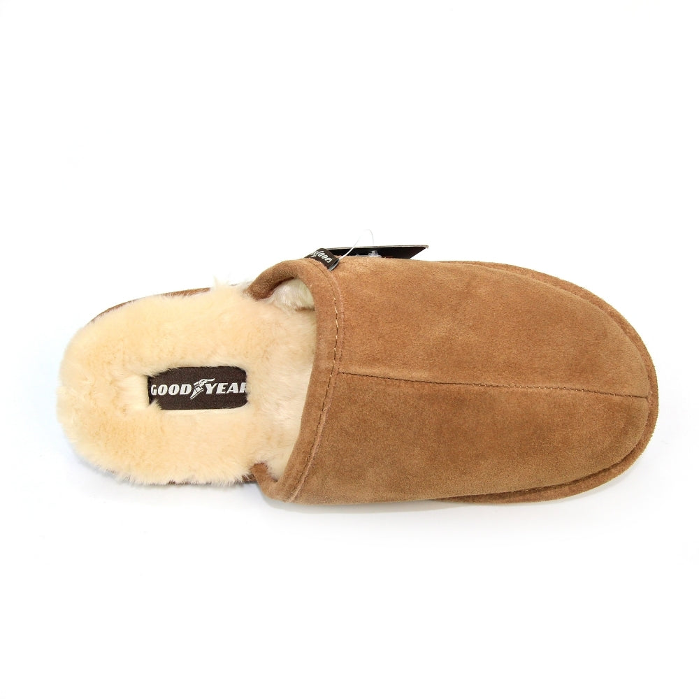 Men's Goodyear Kendrick Leather Slipper Tan Brown