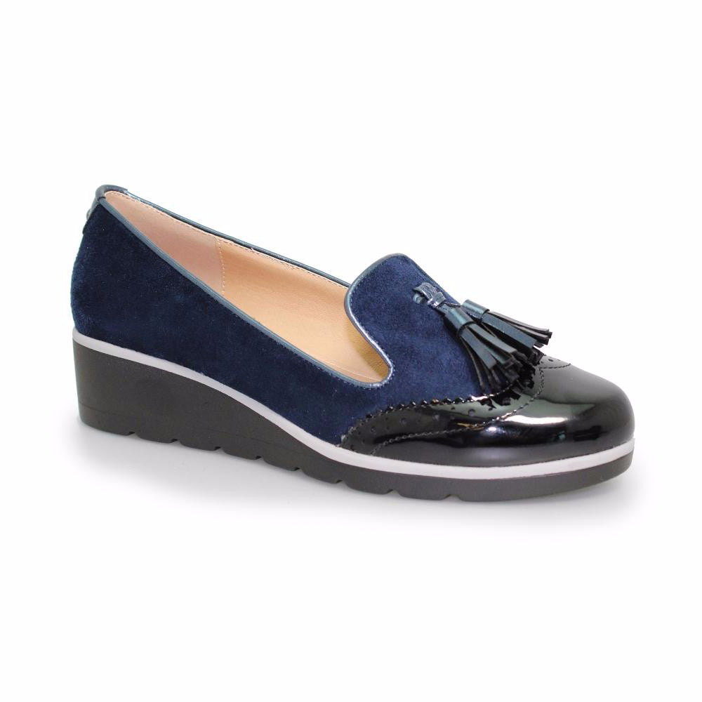 Women's Lunar Karina Slip On Tassel Loafer Navy Blue