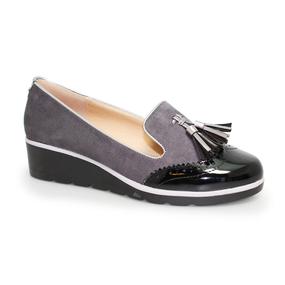 Women's Lunar Karina Slip On Tassel Loafer Grey