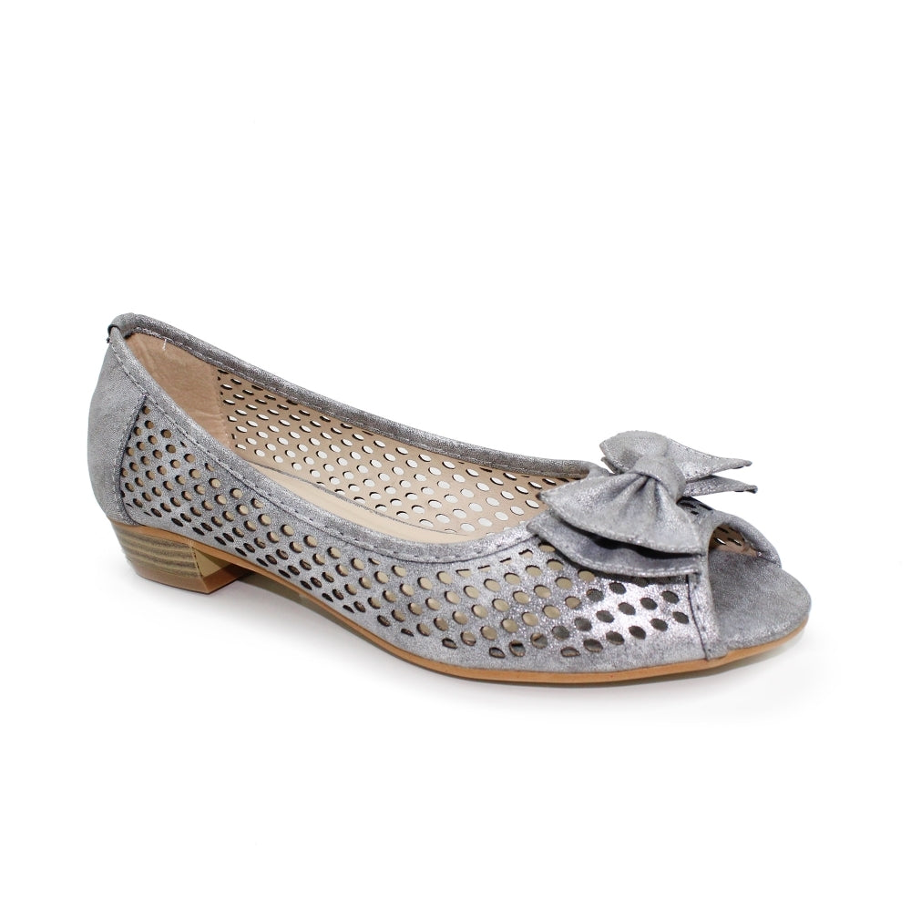 Women's Lunar Mount Summer Peep Toe Shoe Silver