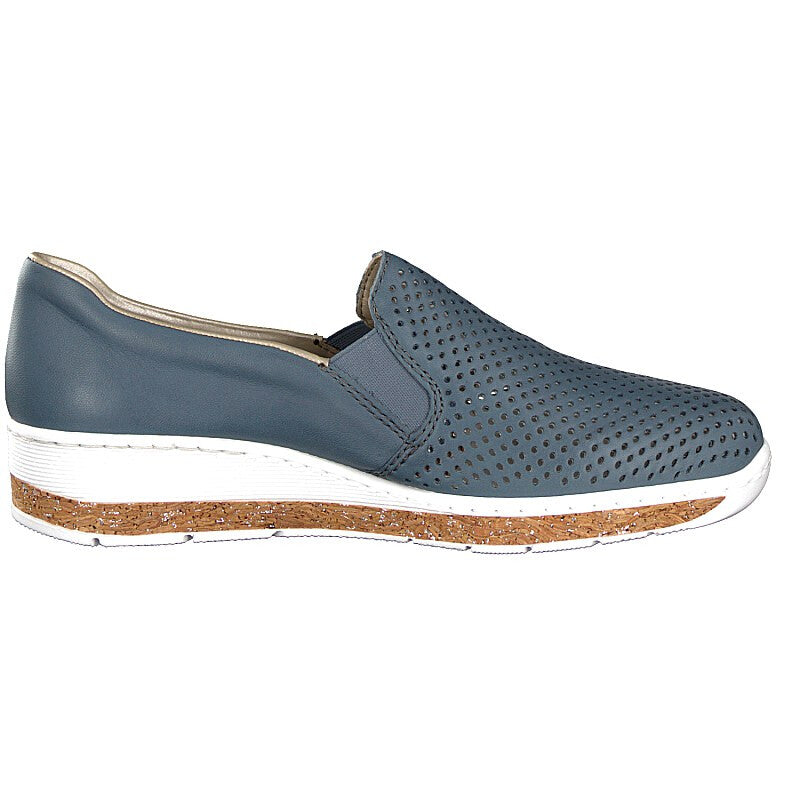 Women's Rieker Lugano Slip on Wedge Blue