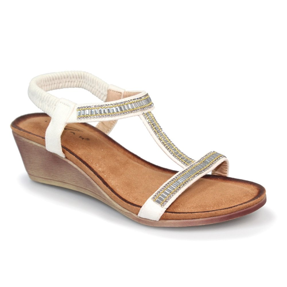 Women's Lunar Tabitha Wedge Sandal White