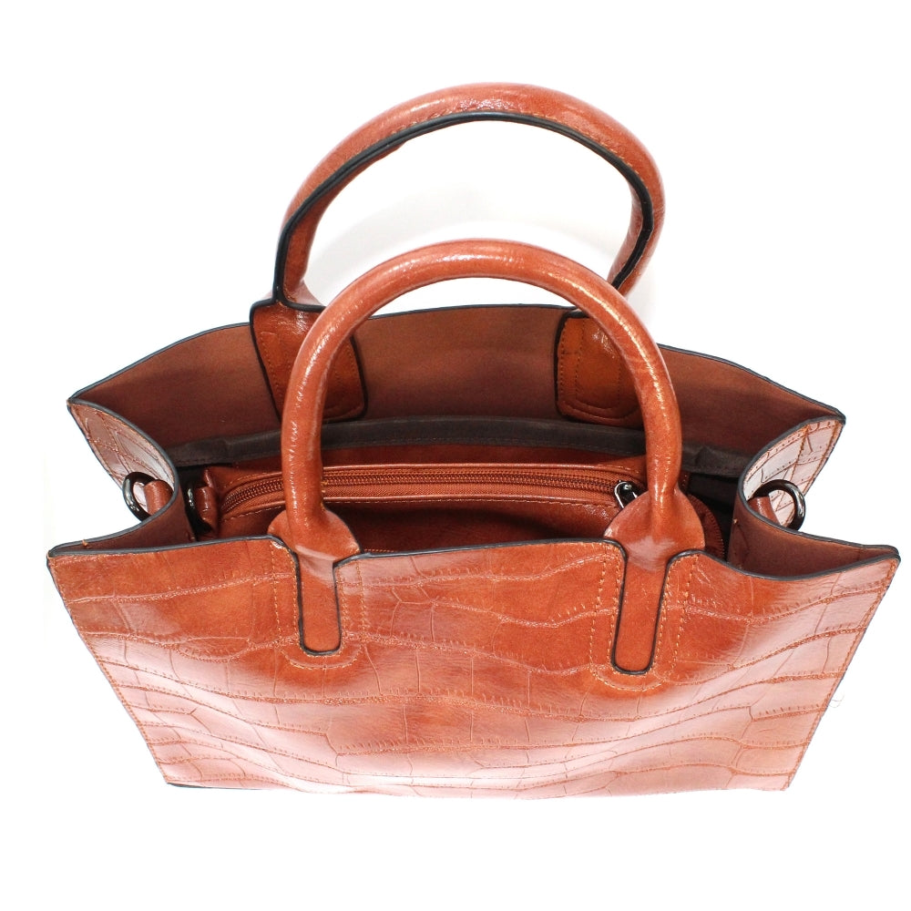 Women's Lunar Townsville Handbag Brown Croc