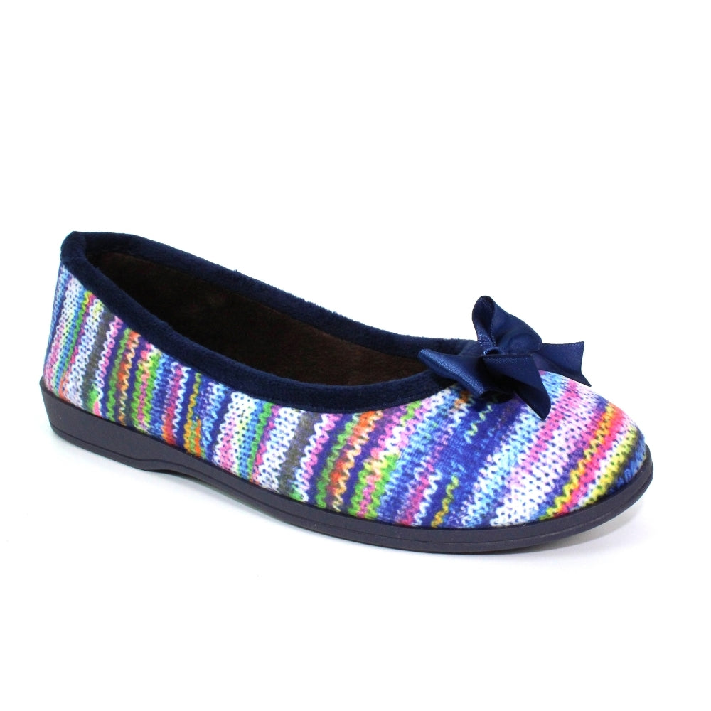 Women's Lunar Twizzle Ballerina Slipper Blue Multi