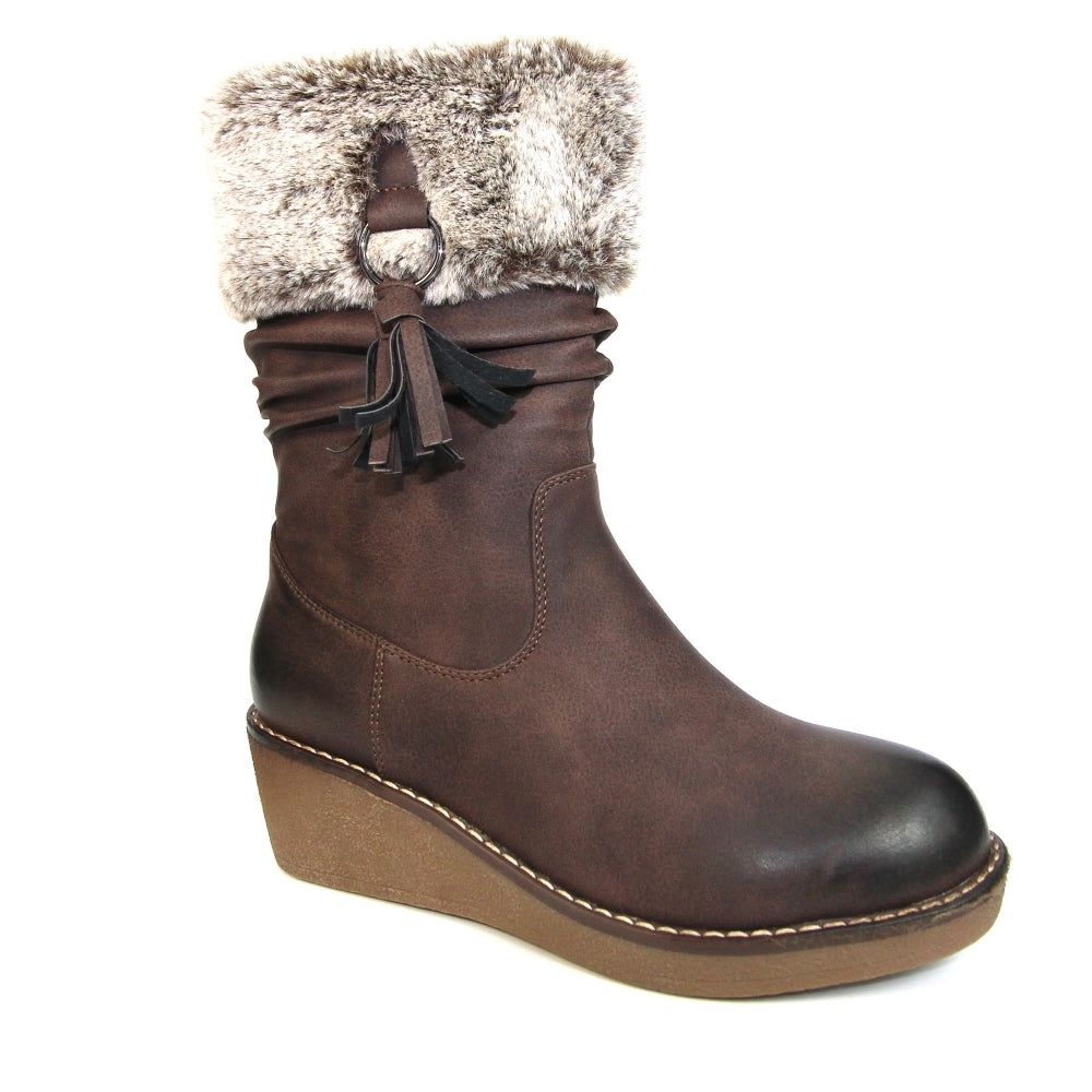Women's Lunar Webb Wedge Boot Brown