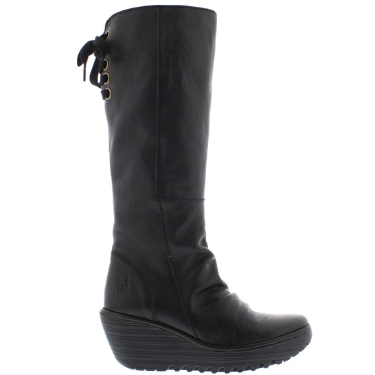 Womens Fly London Yust Boot Black