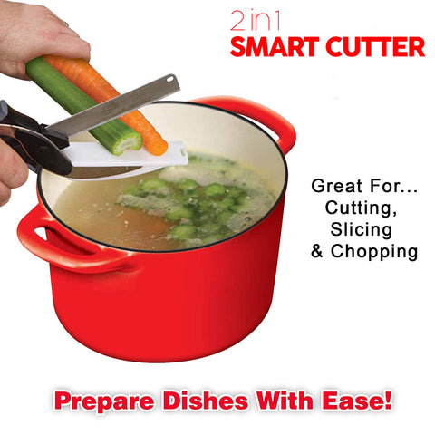 2 in 1 Kitchen Clever Quickly Cutter Food Chopper Smart Cutter