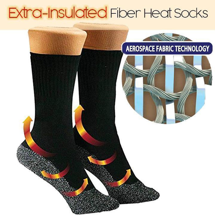 Extra-Insulated Fiber Heat Socks