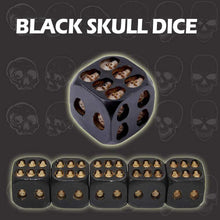 Load image into Gallery viewer, Black Skull Dice
