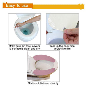 Bathroom Toilet Seat Warmer Cover (Set of 2)