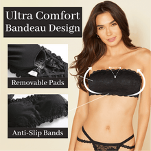 Load image into Gallery viewer, LADIES™ Lace Bandeau Strapless Bra