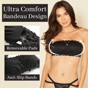 LADIES™ Lace Bandeau Strapless Bra
