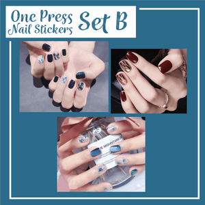 One Press Nail Stickers Sets
