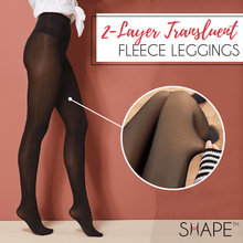 Load image into Gallery viewer, Duo Layer Translucent Fleece Leggings