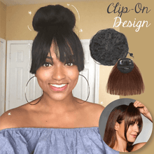 Load image into Gallery viewer, Instant Hair Bun with Bang Set