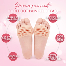 Load image into Gallery viewer, Honeycomb Forefoot Pain Relief Pad (2 Pairs)