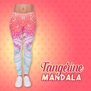 Trendy Printed Yoga Pants