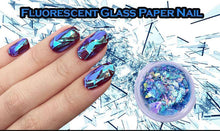 Load image into Gallery viewer, Fluorescent Glass Paper Nail (Set of 4)