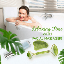 Load image into Gallery viewer, Anti-Aging Jade Facial Massager