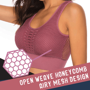 Stretchy Mesh Lifting Sports Bra