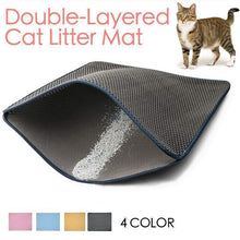 Load image into Gallery viewer, Double-Layered Cat Litter Mat