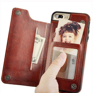 4-in-1 Luxury Leather Wallet Case